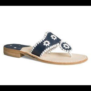 Jack Rogers Navy & White Sandal 7.5